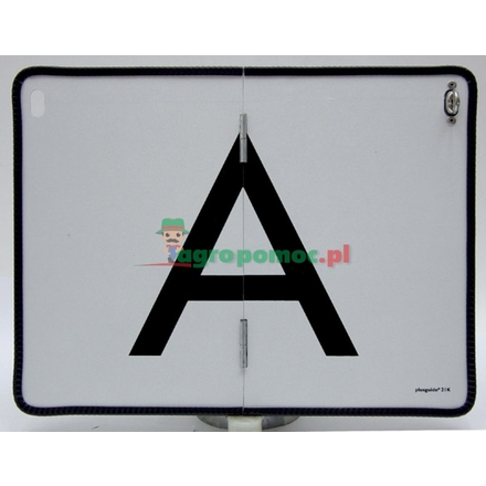A warning board