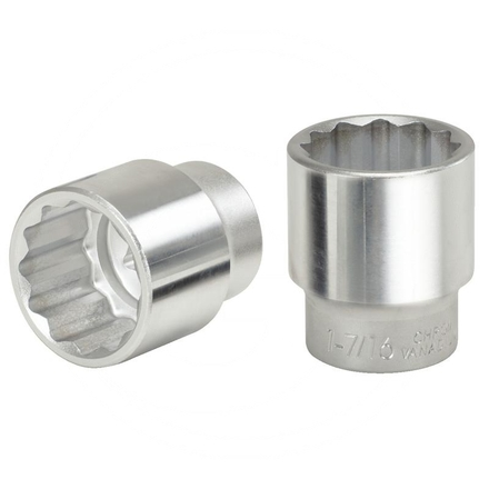 "KS Tools 1"" Bi hex socket,short, 1.7/16"""