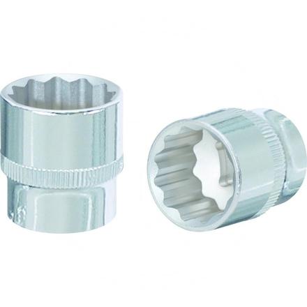 "KS Tools 1/2"" CHROME+Bi hex socket, 12mm"