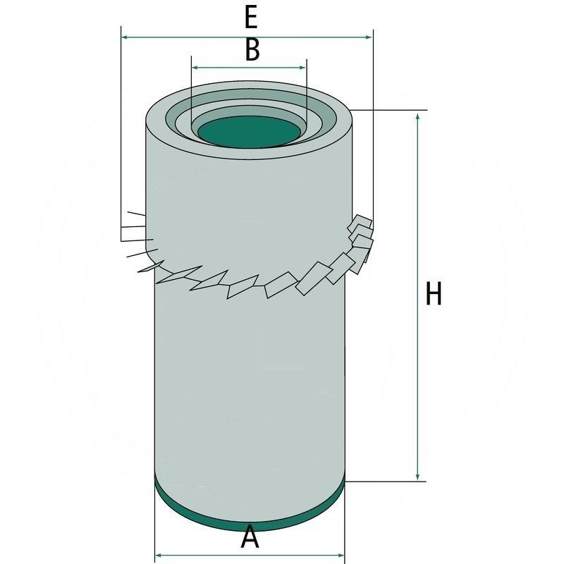 Air filter | 565C16190 | zdjęcie nr 2