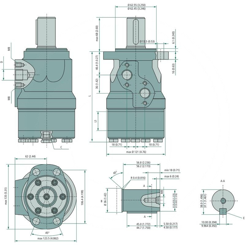 Danfoss hydraulic motor omh 315 257151h1014 spare for Danfoss hydraulic motor catalogue