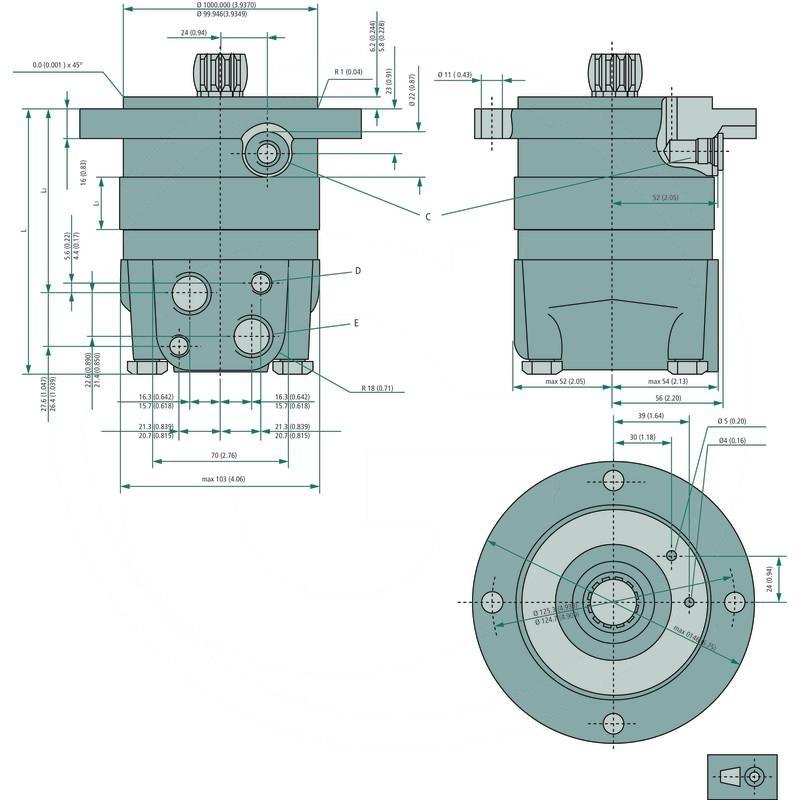 Danfoss Hydraulic Motor Omss 200 257151f0539 Spare