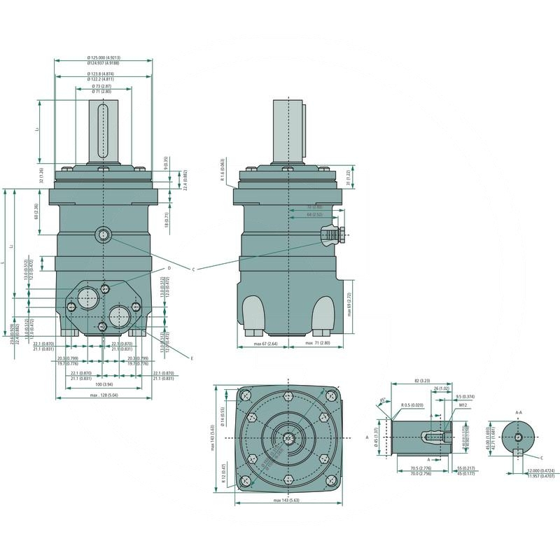 Danfoss Hydraulic Motor Omt 315 257151b3003 Spare