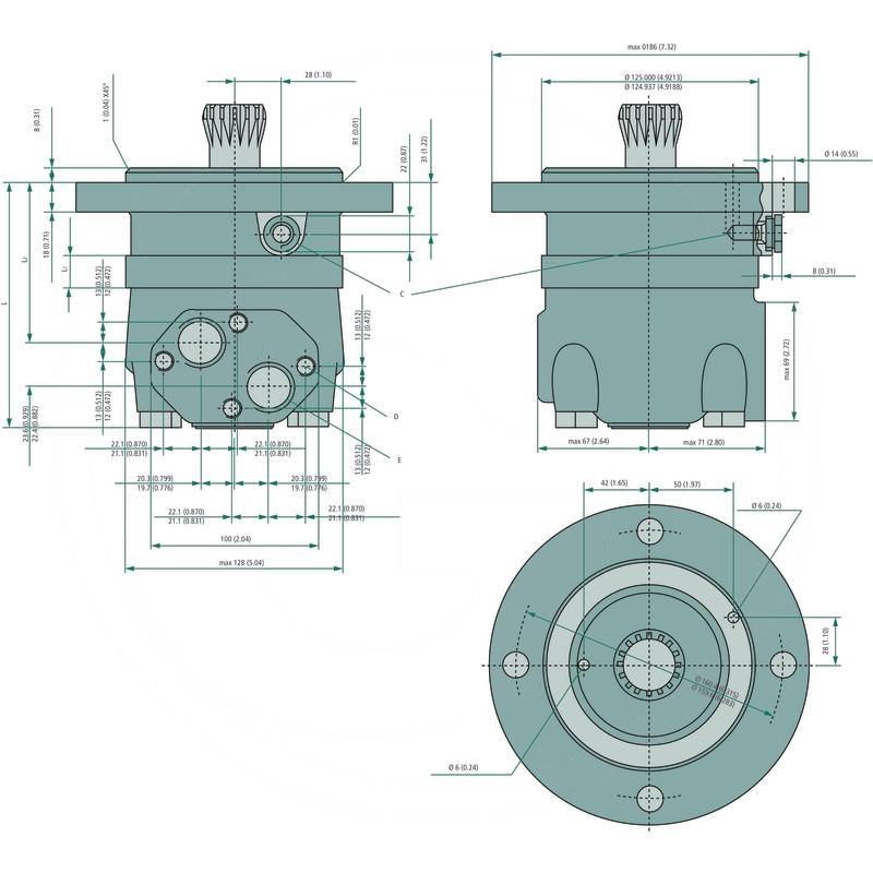 Danfoss Hydraulic Motor Omts 400 257151b3040 Spare