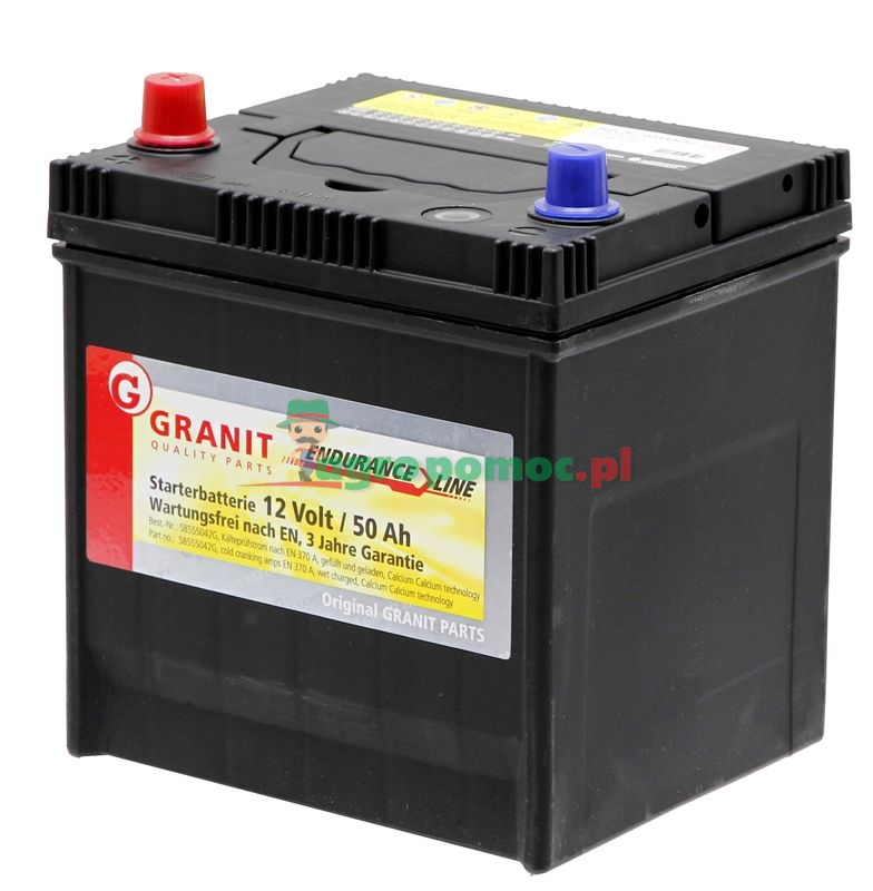 battery 12v 50ah filled 58555042g spare parts for agricultural machinery and tractors. Black Bedroom Furniture Sets. Home Design Ideas